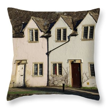 A Row Of Cottages Throw Pillow
