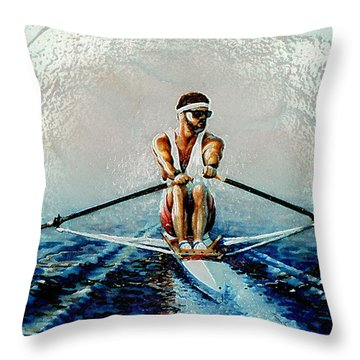A Rowers Dream Throw Pillow