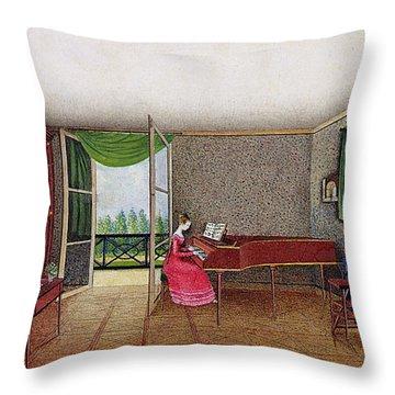 A Russian Interior Throw Pillow by Micheline Blenarska