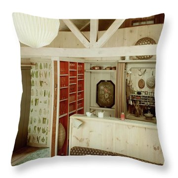 A Rustic Kitchen Throw Pillow