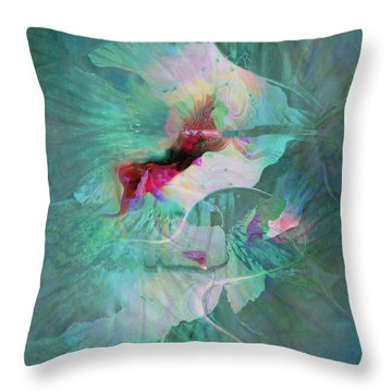 A Sacred Place - Abstract Art Throw Pillow by Jaison Cianelli