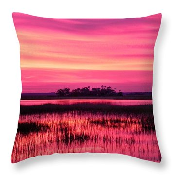 A Saint Helena Island Sunset Throw Pillow