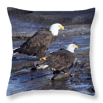 A Salmon For Both Of Us Throw Pillow by Elvira Butler