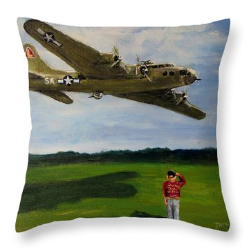 A Salute To The Greatest Generation Throw Pillow
