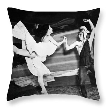 A Scene With The Russian Ballet Throw Pillow by Underwood Archives