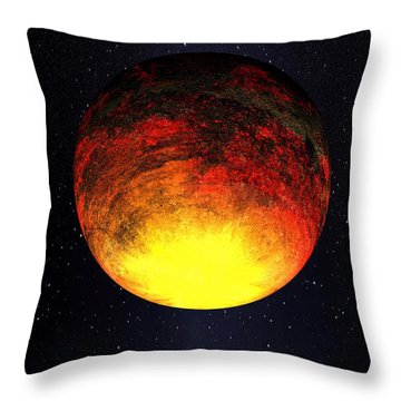 A Scorched World Kepler-10b  Throw Pillow by Movie Poster Prints