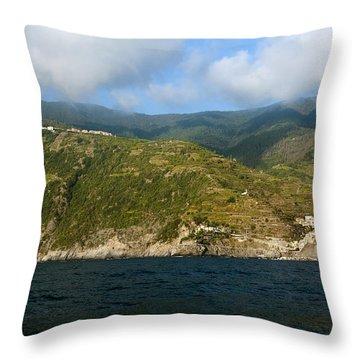 A Sea View Of Manarola Throw Pillow