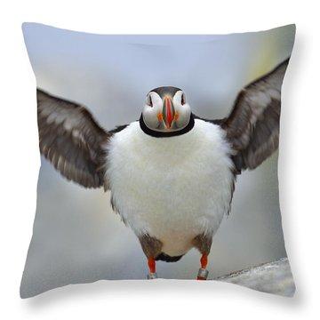 A Seaside Breeze Throw Pillow