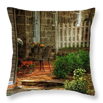 A Seat In The Shade Throw Pillow by Lois Bryan