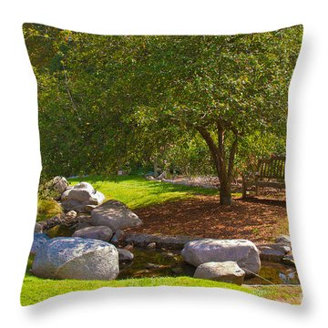 A Secluded Area In The Park Throw Pillow
