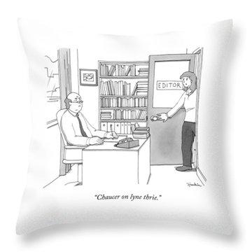 A Secretary Informs An Editor Throw Pillow