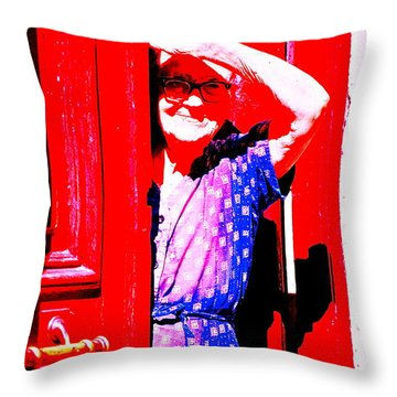 A Senior Moment Throw Pillow by Ira Shander