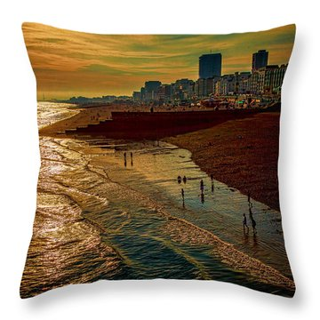 Throw Pillow featuring the photograph A September Evening In Brighton by Chris Lord