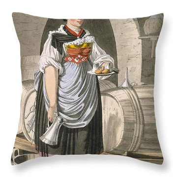 A Serving Girl At An Inn Throw Pillow