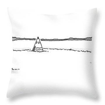 Teepees And Pencil Sharpener Throw Pillow
