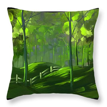 A Shade Of Green Throw Pillow