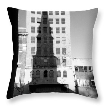 A Shadow Looms Over Us All Throw Pillow by James Aiken