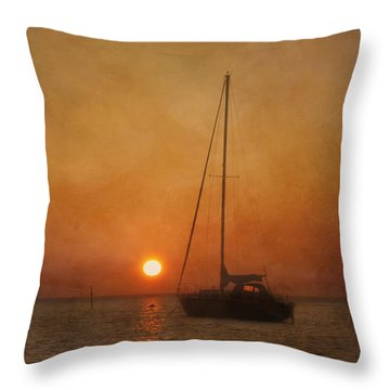 A Ship In The Night Throw Pillow