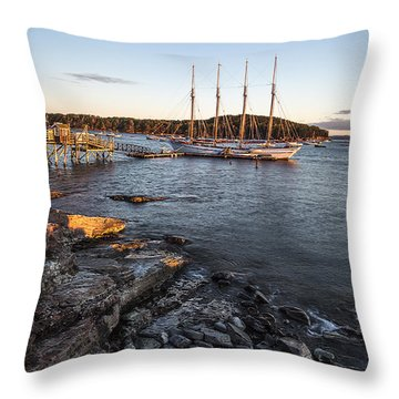 A Ship Throw Pillow