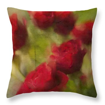 A Shower Of Roses Throw Pillow