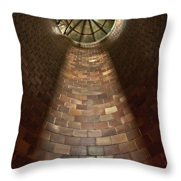 Throw Pillow featuring the photograph A Silo Of Light From Above by Jerry Cowart