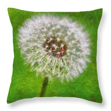 Throw Pillow featuring the painting A Simple Beauty by Joe Misrasi