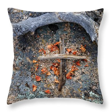 A Simple Sign Of The Cross Throw Pillow