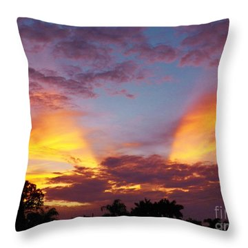 Throw Pillow featuring the photograph A Sky Like No Other by Judy Via-Wolff