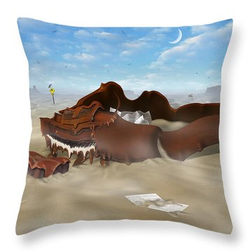 A Slow Death In Piano Valley Throw Pillow