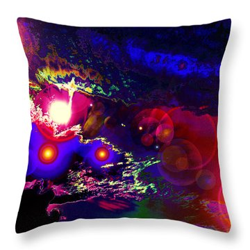 A Small Act Of Evening Magic Throw Pillow by Susanne Still
