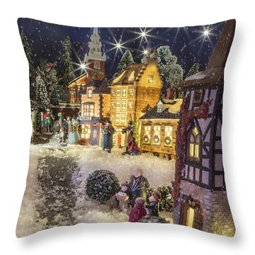 A Snowy Evening Throw Pillow