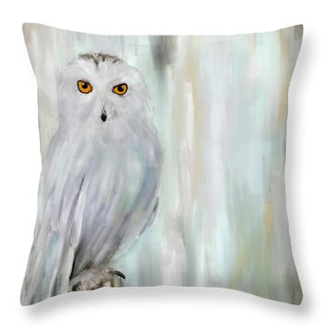 A Snowy Stare Throw Pillow