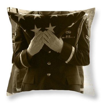 A Soldiers Sorrow II Throw Pillow