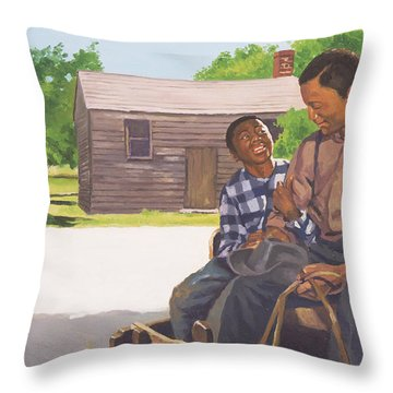 A Sons Comfort Throw Pillow by Colin Bootman