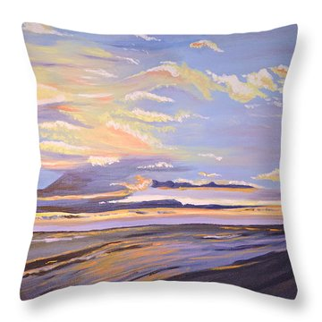 A South Facing Shore Throw Pillow by Donna Blossom