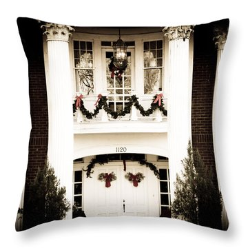 A Southern Christmas Throw Pillow