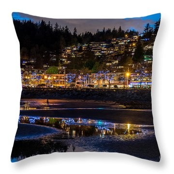 A Sparkling Night - By Sabine Edrissi Throw Pillow