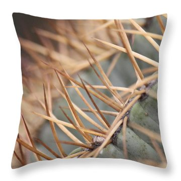 A Spiny Situation Throw Pillow