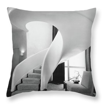 A Spiral Staircase Throw Pillow