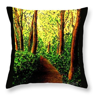Throw Pillow featuring the painting A Spiritual Awakening by Hazel Holland