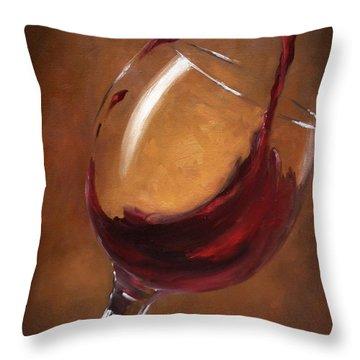 A Splash Of Red Throw Pillow