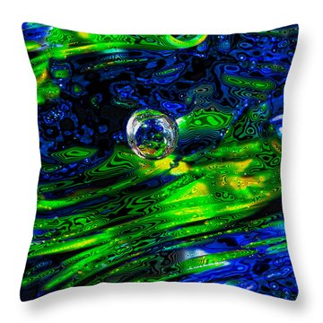 A Splash Of Seahawks Throw Pillow