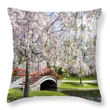 A Spring Walk Throw Pillow