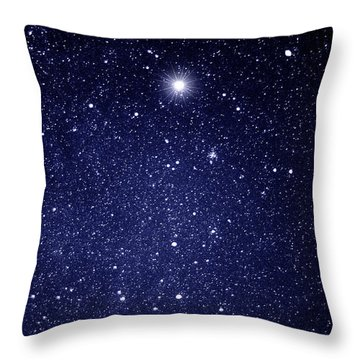 A Star Appeared In The East... Throw Pillow
