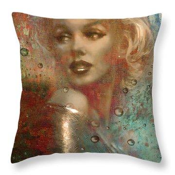 A Star Through The Rain Throw Pillow by Greg Sharpe