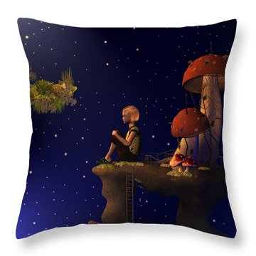 A Starry Starry Night Throw Pillow