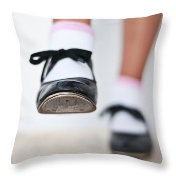 Old Tap Dance Shoes From Dance Academy - A Step Forward Tap Dance Throw Pillow
