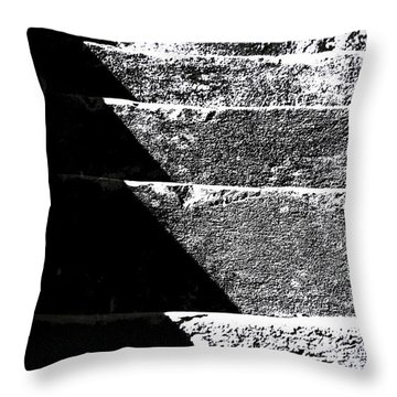 Throw Pillow featuring the photograph A Stone Staircase by Selke Boris