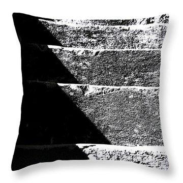 A Stone Staircase Throw Pillow by Selke Boris