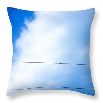 Stopover Between Flights Throw Pillow
